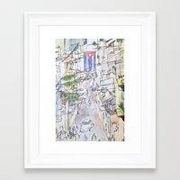 cuba Framed Art Prints featuring Cuba by Leah Vaughn