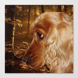 Dog Cocker Spaniel Canvas Print