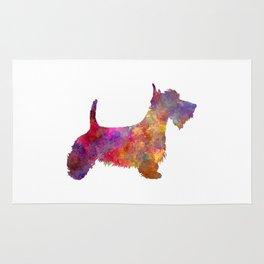 Scottish Terrier in watercolor Rug