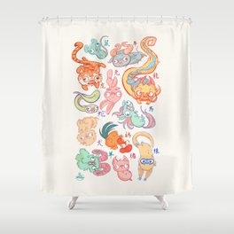 Chinese Animals of the Year Shower Curtain