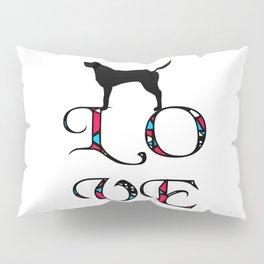 Pink Tribal Love Labrador Retriever Pillow Sham