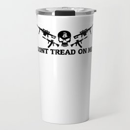 Don't Tread On Me Gadsden Skull Rifles Travel Mug