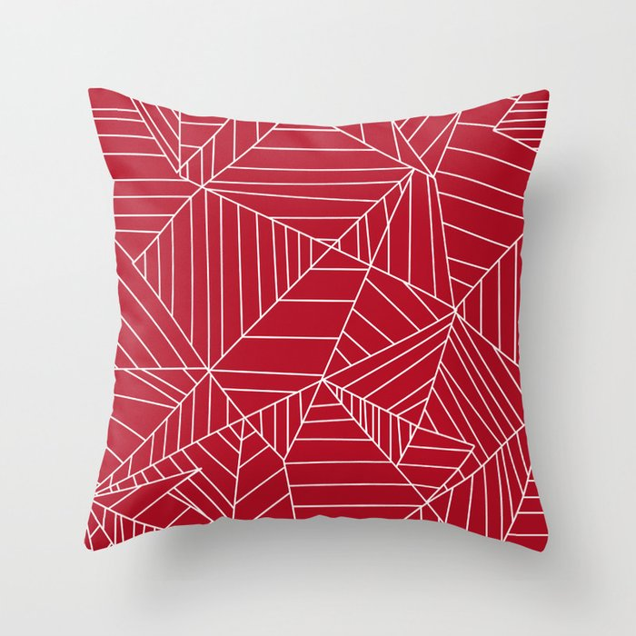 Decorative Pillow Shapes And Sizes : Lines, Shapes, and Planes Red Throw Pillow by hestatrim Society6