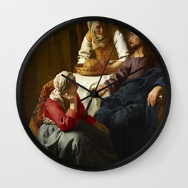 Johannes Vermeer - Christ in the House of Martha and Mary Wall Clock