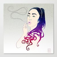 smoke Canvas Prints featuring Smoke by Stevyn Llewellyn