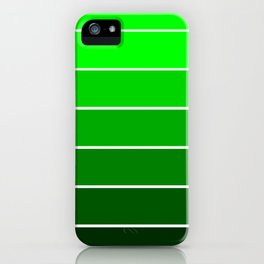 Lime Green Ombre iPhone Case