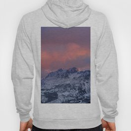 """Alayos Mountains"". Red sunset. Sierra Nevada Hoody"