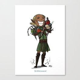 The Littlest Assassin Canvas Print