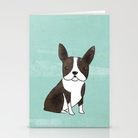 boston terrier Stationery Cards featuring Boston Terrier by 52 Dogs