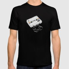 Cassette Mens Fitted Tee MEDIUM Black