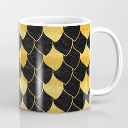 Black and golden scales pattern Coffee Mug