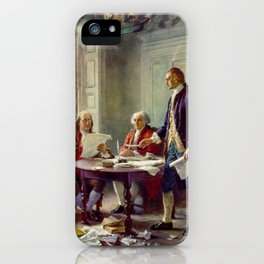 Jean-Leon Gerome Ferris's Writing the Declaration of Independence in 1776 iPhone Case