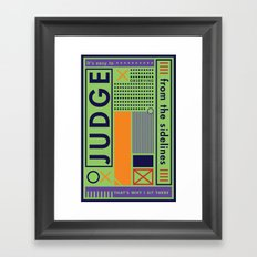 The Judge Framed Art Print