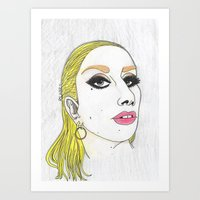 Yellow Look Art Print