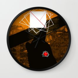 square and nude Wall Clock