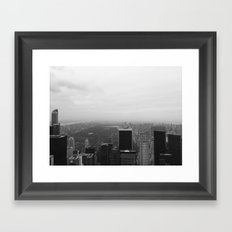 New York in Black and White Framed Art Print