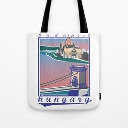Budapest, Bridge, vintage colors Tote Bag