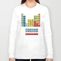 periodic table Long Sleeve T-shirts featuring Periodically Fictional Table by AMO Design