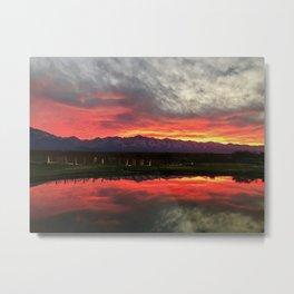 Mendoza Argentina, Sunset Metal Print
