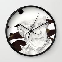 picasso Wall Clocks featuring Picasso by Mitja Bokun