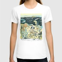 cycling T-shirts featuring Cycling in the Deep by Dushan Milic