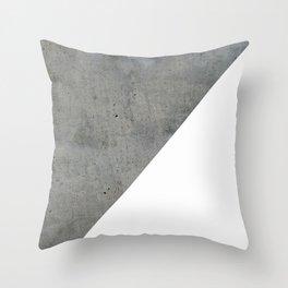 Concrete Vs White Throw Pillow