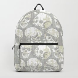 Vintage Skull Heads Grunge Pattern Backpack