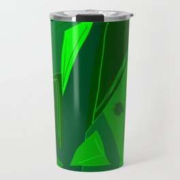 Cages at the Border Green #Abstract #Geometric #PoliticalArt Travel Mug