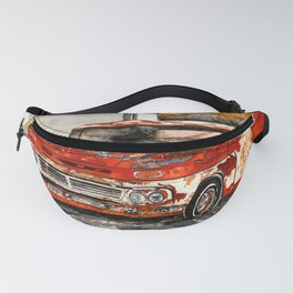 Old red pickup truck Fanny Pack
