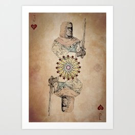 Arabesque Deck of Cards Jack Hearts Art Print