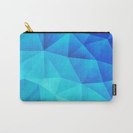 Abstract Polygon Multi Color Cubizm Painting in ice blue Carry-All Pouch