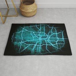 Kansas City, MO, USA, Blue, White, Neon, Glow, City, Map Rug