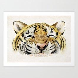 Happy Tiger Art Print