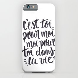 il me l'a dit, m'a jure iPhone Case