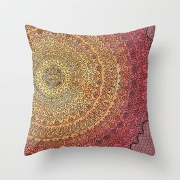 The Center of It All in Color Throw Pillow