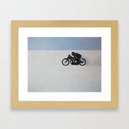 Brough Superior on the Salt Framed Art Print