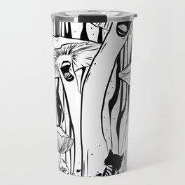 The Singing Mushrooms & The Zebra Cat Travel Mug