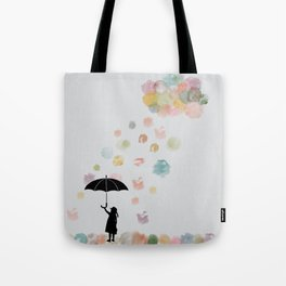 Colorful snow in Winter Tote Bag