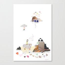 Hermit Crab vs. Snail Canvas Print