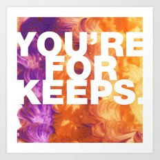 SUNDAYS ARE FOR SOULMATES / You're for keeps Art Print