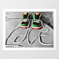 sneaker Art Prints featuring Sneaker Love by SefoG