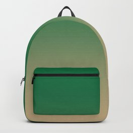 Cadmium Green to Tan Brown Linear Gradient Backpack