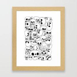 Dead Face Squad Framed Art Print