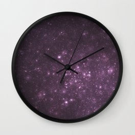 Purple Galaxy of Sir Douglas Fresh Wall Clock