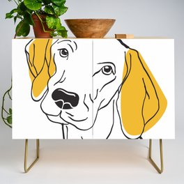 Dog Modern Line Art Credenza