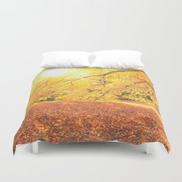 New York City Autumn Sun Duvet Cover
