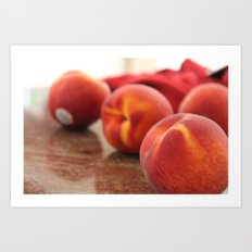 Peaches for Days Art Print