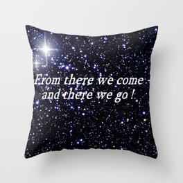 The origins and future. Throw Pillow