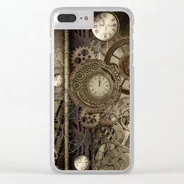Steampunk, clocks and gears Clear iPhone Case