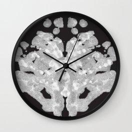 Rorschach Inkblot Test Wall Clock